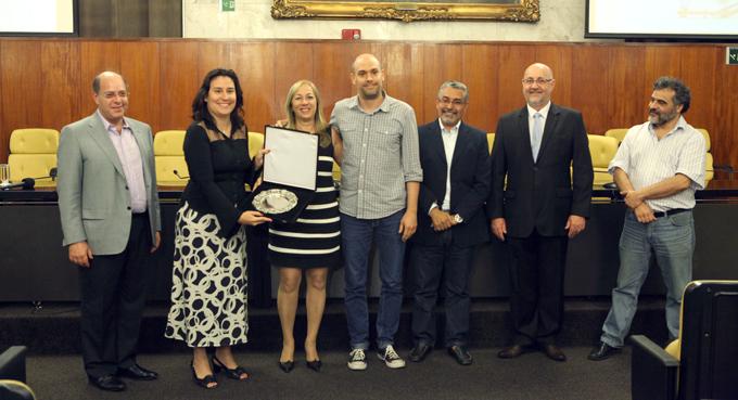 Salva de Prata prata entregue à categoria Melhor Revista de Gastronomia, cujo vencedora foi Revista Expresso   Foto: André Bueno / CMSP