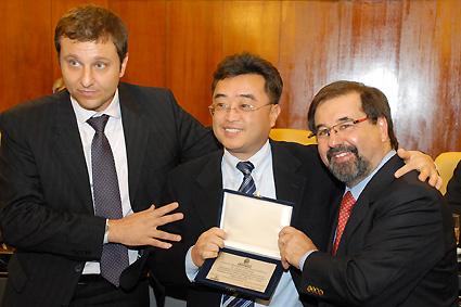 Marco Aurélio e homenageados