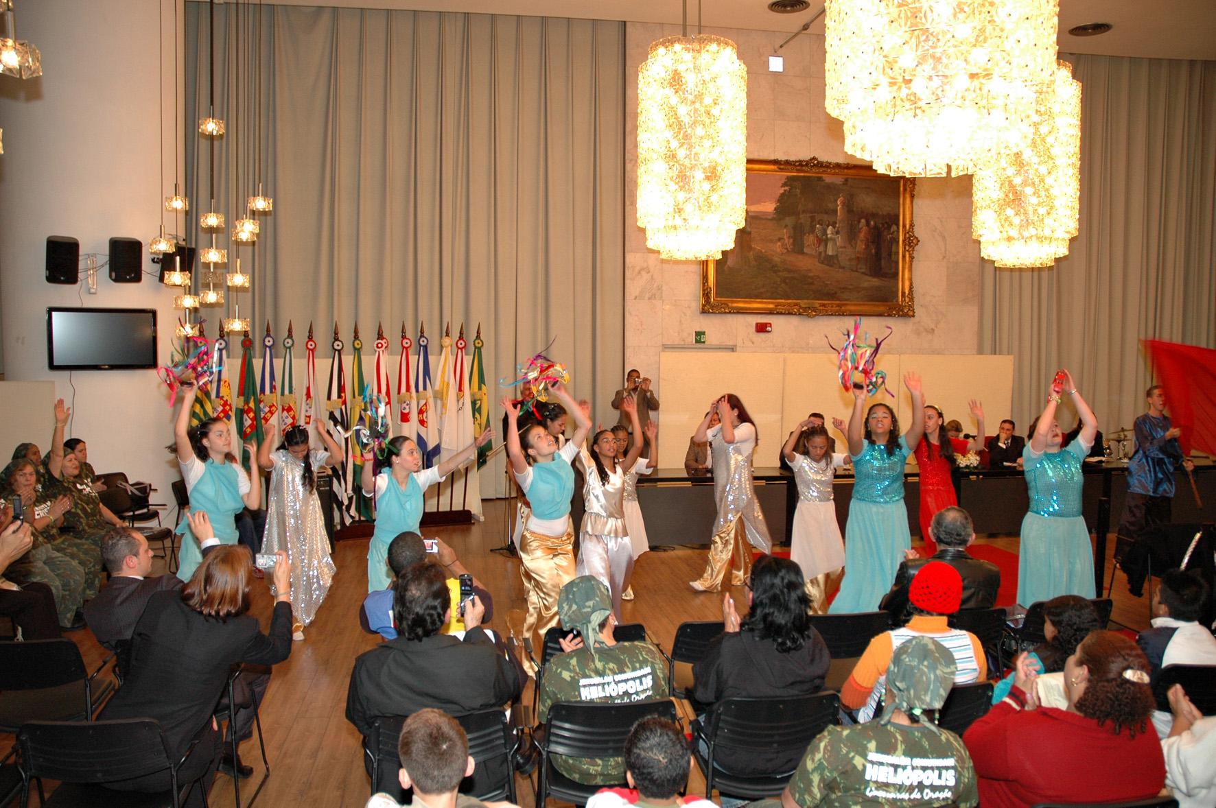 Apresentações de dança marcaram a comemoração do dia de Jerusalém