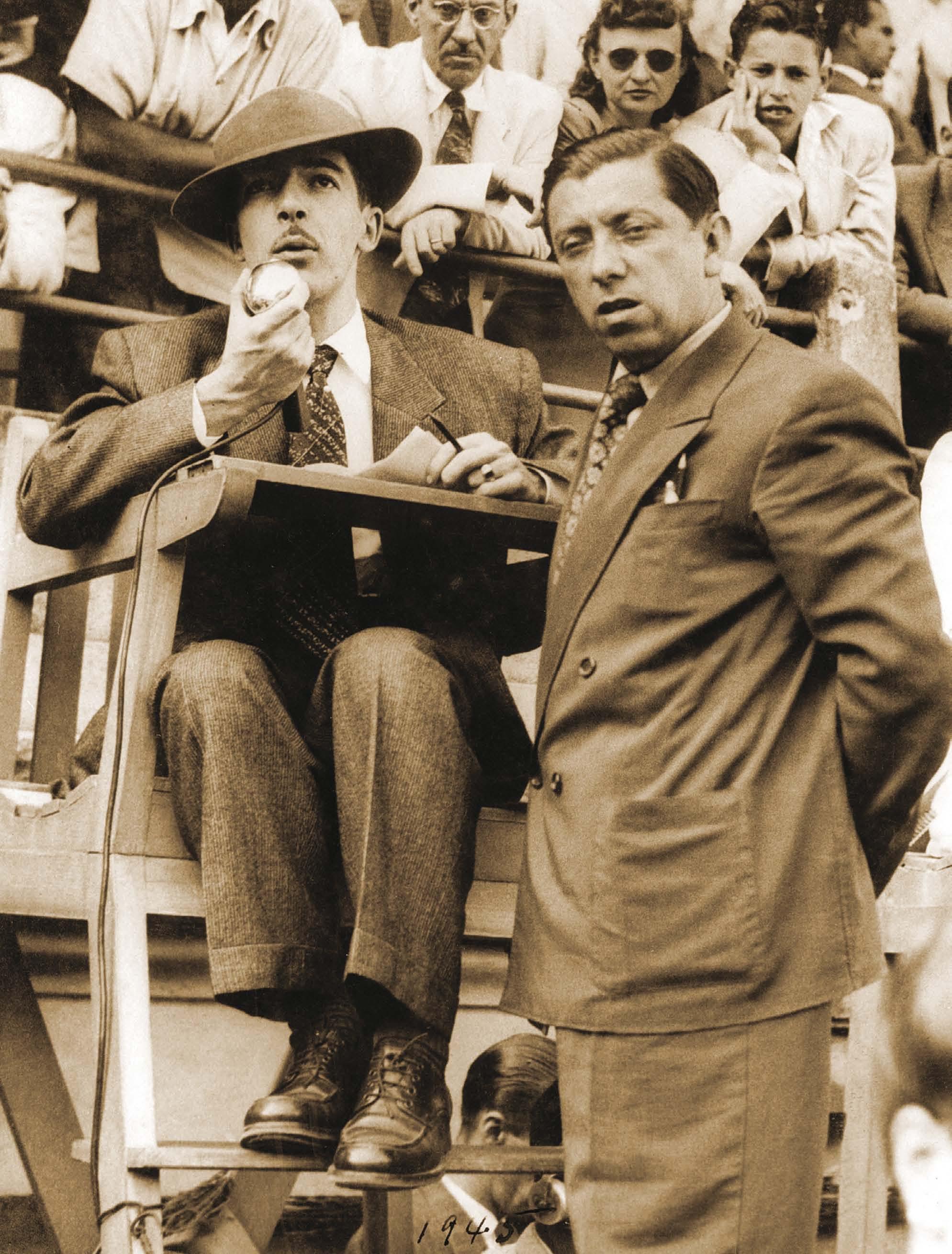 Murillo estava sempre impecável, mesmo em transmissões para o rádio