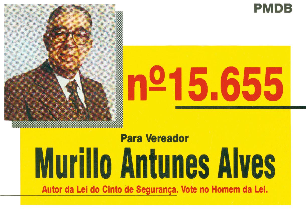 Material de campanha para as eleições de 1996
