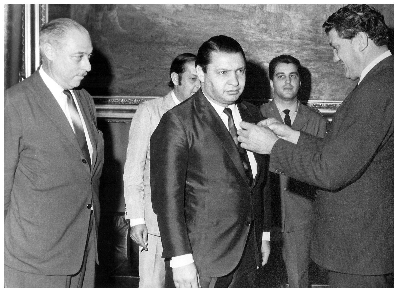 Homenagem da União dos Escoteiros ao presidente da CMSP, em julho de 1971 | Foto: Missao Hayao
