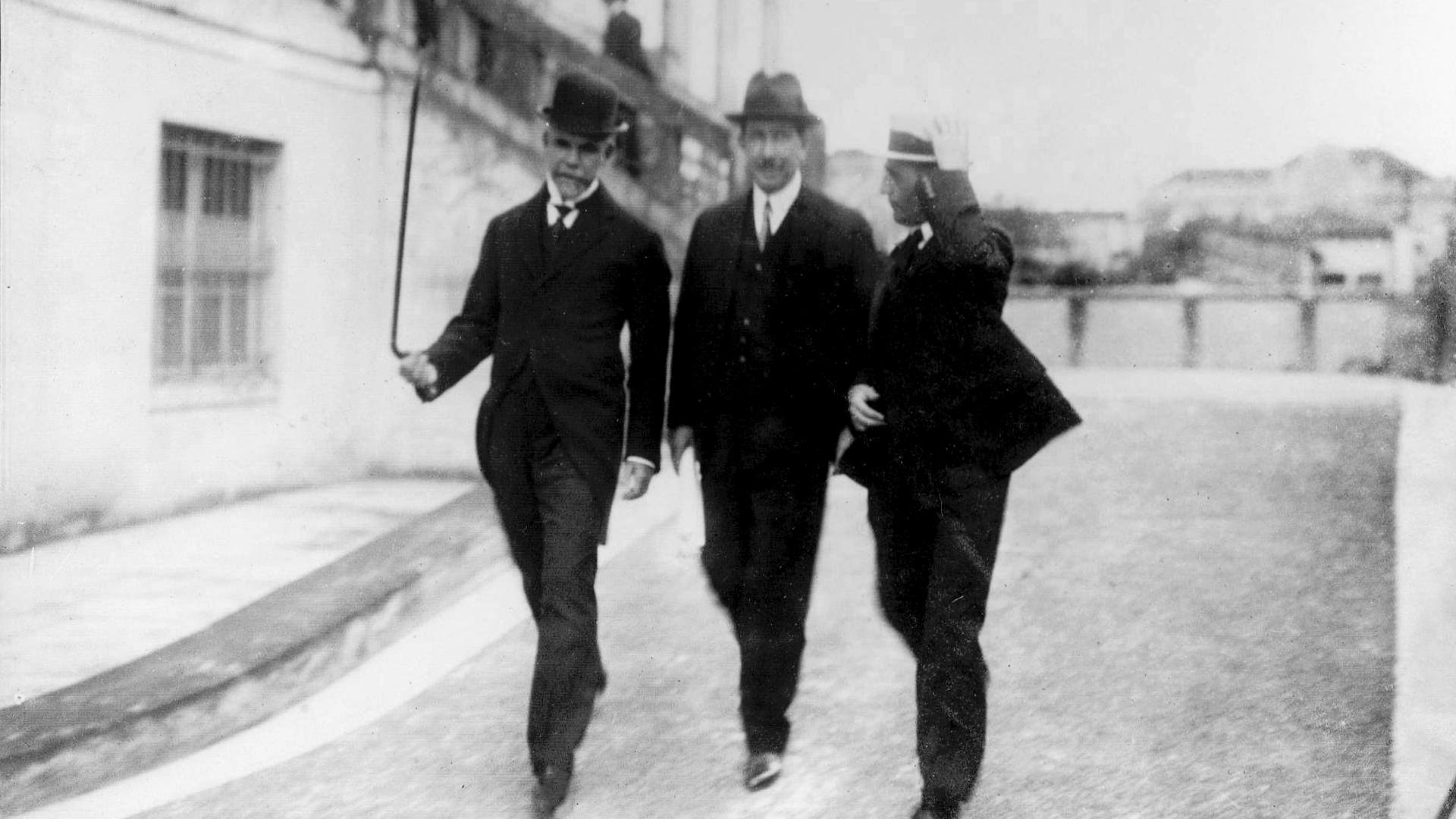 Washington Luís foi um político que gostava de andar pelas ruas